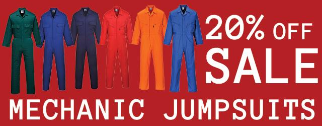 Mechanic Jumpsuits, 20% off