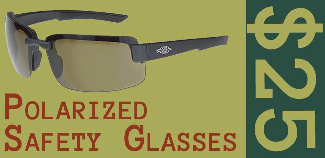 Polarized Safety Glasses $25