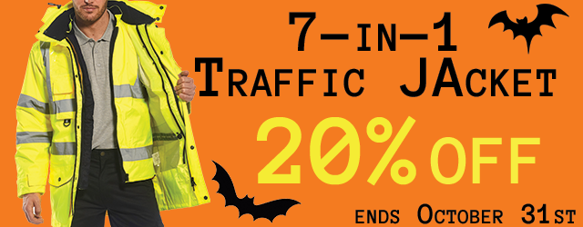 High Visibility 7-in-1 Traffic Jacket, 20% Off