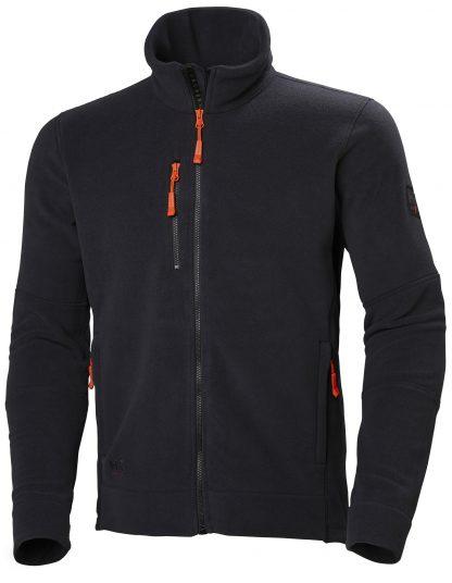 Kingston Fleece Jacket - Helly Hansen 72158, Black, Front