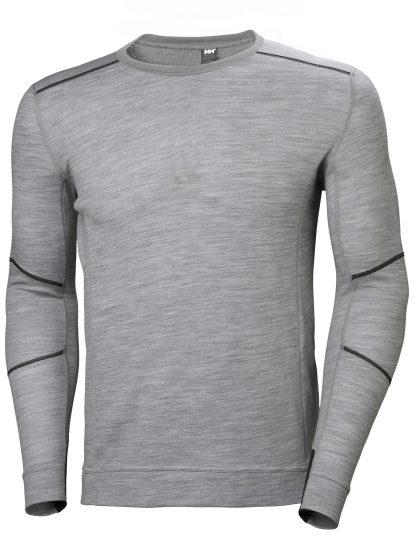 HH LIFA MERINO Thermal Shirt - Helly Hansen 75106, Gray Front