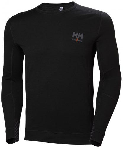 HH LIFA MERINO Thermal Shirt - Helly Hansen 75106, Black Front