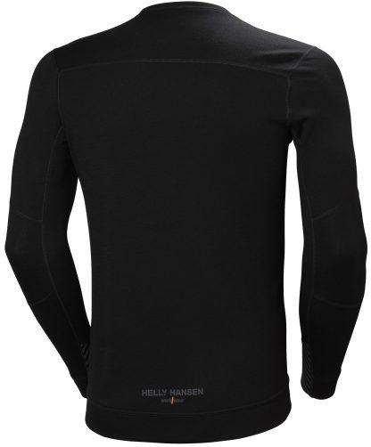 HH LIFA MERINO Thermal Shirt - Helly Hansen 75106, Black Back