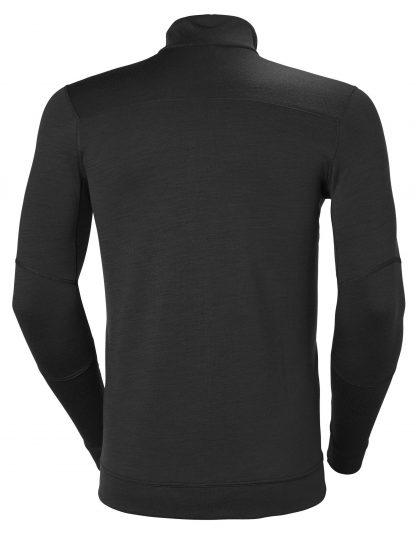 HH LIFA Half Zip Thermal Underwear - Helly Hansen 75109, Black, Back
