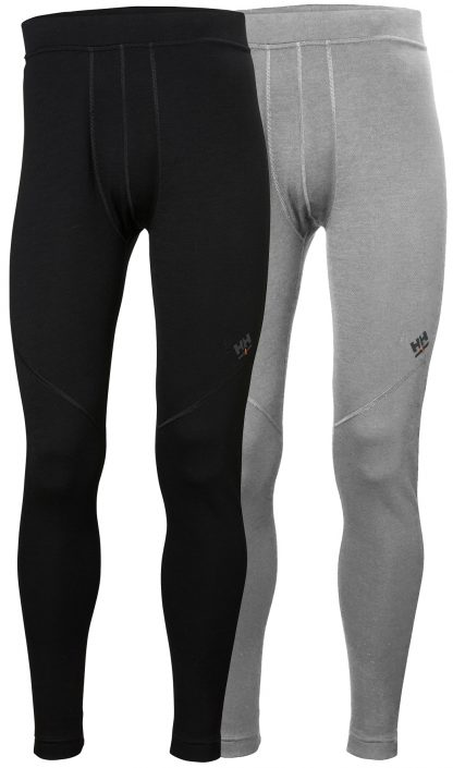 HH LIFA Merino Long Johns - Helly Hansen 75506, available in both black or gray