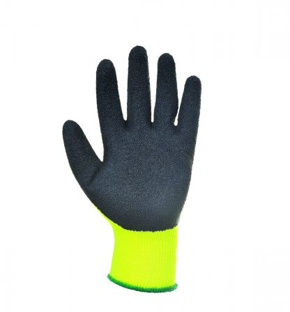 Insulated Grip Glove - Portwest A140, Yellow, Latex Palm