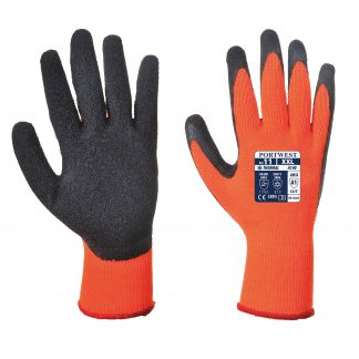 Insulated Grip Glove - Portwest A140, Orange, Both front and back