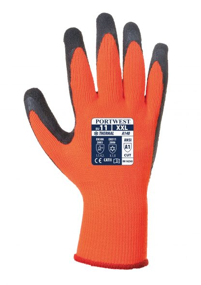 Insulated Grip Glove - Portwest A140, Orange, Acrylic Liner