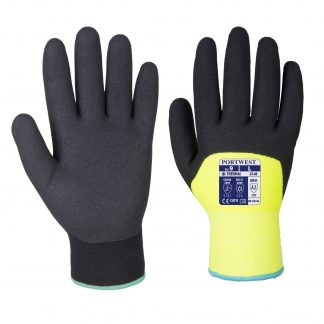 Insulated Grip Glove - Portwest A146 Arctic Winter, 3/4 Dipped, front and back