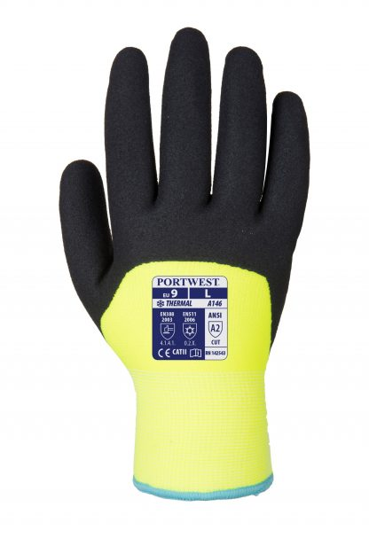 Insulated Grip Glove - Portwest A146 Arctic Winter, 3/4 Dipped