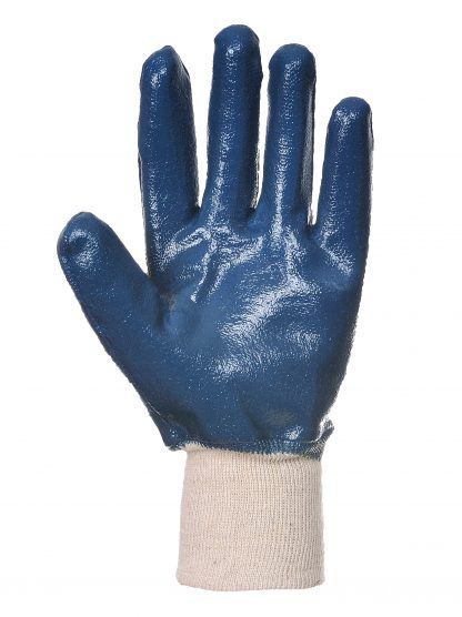 Waterproof Grip Glove - Portwest A300 Nitrile Knit, ANSI Abrasion A3, nitrile palm