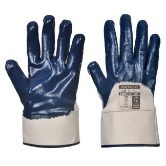 Grip Glove - Portwest A301 Nitrile Knit, ANSI Abrasion A3, front and back