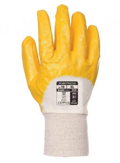 Grip Glove - Portwest A330 Lightweight Nitrile, ANSI Abrasion A1, Nitrile Lightweight Knitwrist, Back