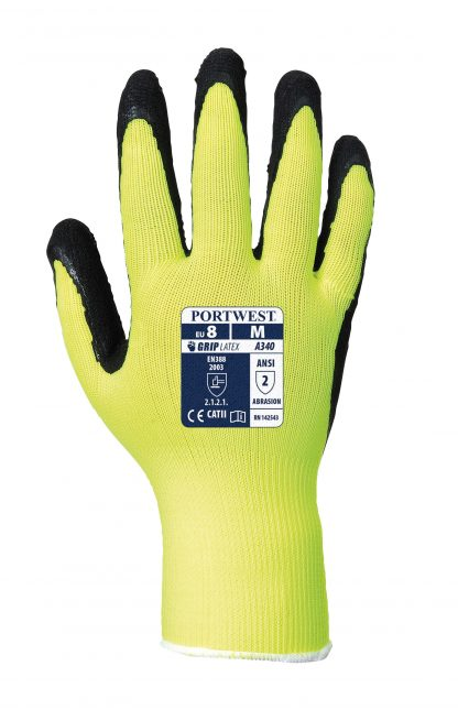 Grip Glove - Portwest A340 Long Cuff, ANSI Abrasion A2, Back