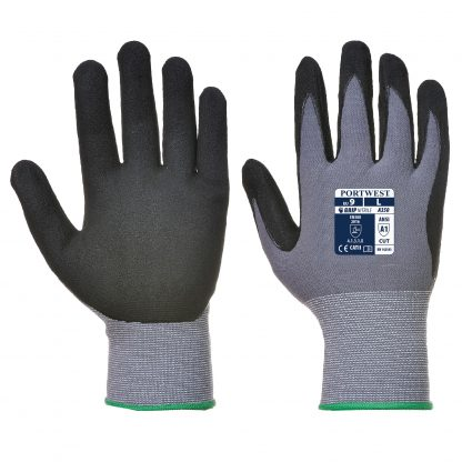 Grip Glove - Portwest A350 Dermiflex, ANSI Cut A1, front and back