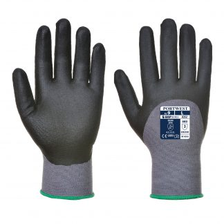 Grip Glove - Portwest A352 Dermiflex Ultra, 3/4 Dipped, Front and Back