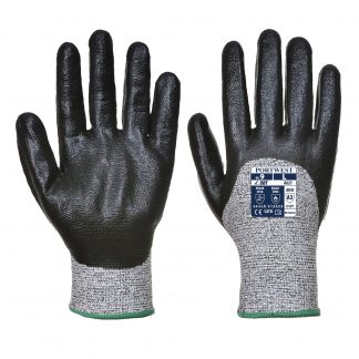 Cut Proof Gloves - Portwest A621, Cut Level A3, 3/4 Dipped, Front and back