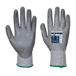 Cut Proof Grip Gloves - Portwest A622, Cut Level A3, front and back