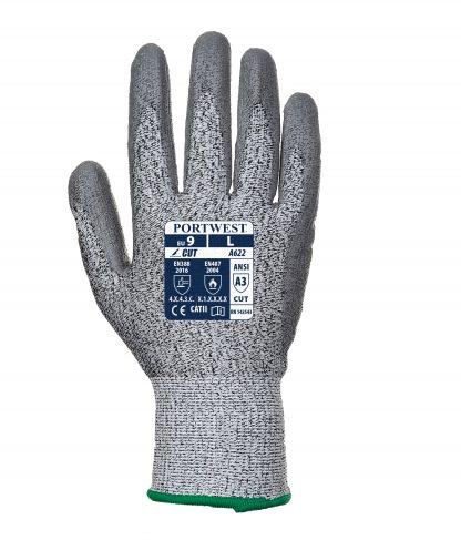 Cut Proof Grip Gloves - Portwest A622, Cut Level A3, HDPE/Fiberglass Liner