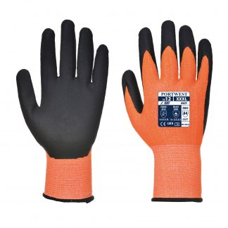 Cut Proof Gloves - Portwest A625, Cut Level A4, Orange, Front and back
