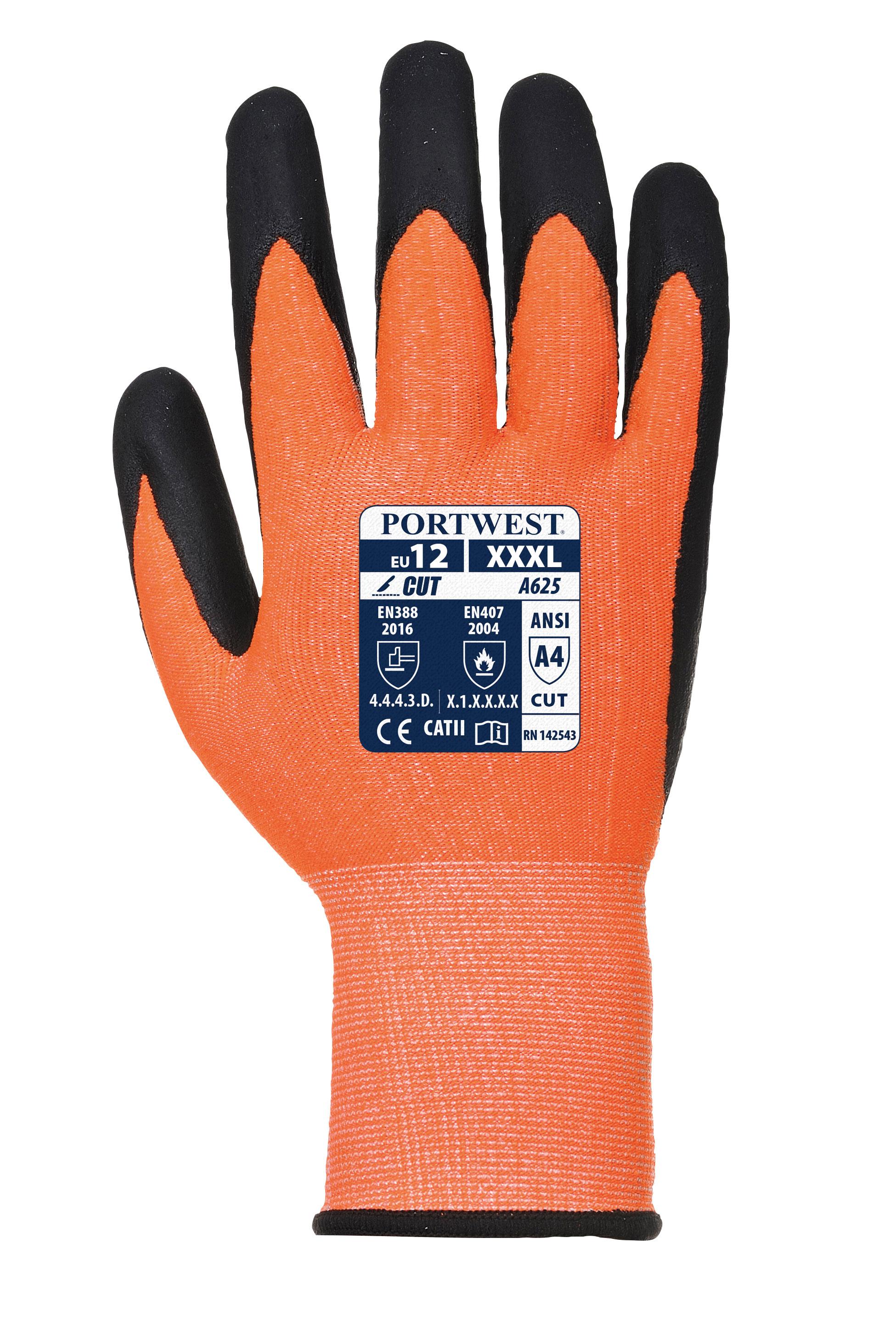 Portwest A625 Vis Tex Cut Proof Gloves Ansi Cut A4