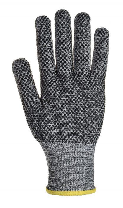 Cut Proof Gloves - Portwest A640 Sabre-Dot, Cut Level A4, PVC Dotted Palm
