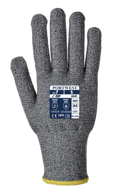 Cut Proof Gloves - Portwest A640 Sabre-Dot, Cut Level A4, HPPE Shell