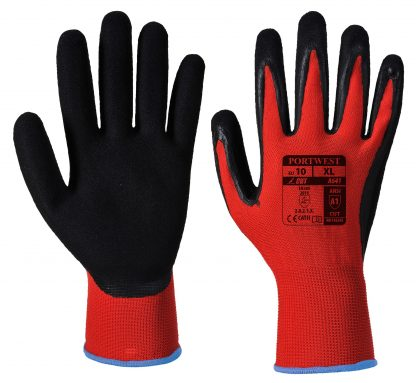 Cut Proof Gloves - Portwest A641, Cut Level 1, front and back