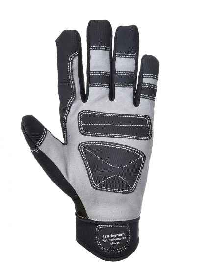Portwest A710 Mechanic's Grip Glove, Black, palm