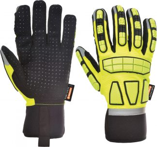 Portwest A724 Safety Impact Glove, TPR Knuckles, Yellow, main