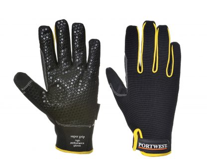Portwest A730 Supergrip Mechanic Glove, Black, Main