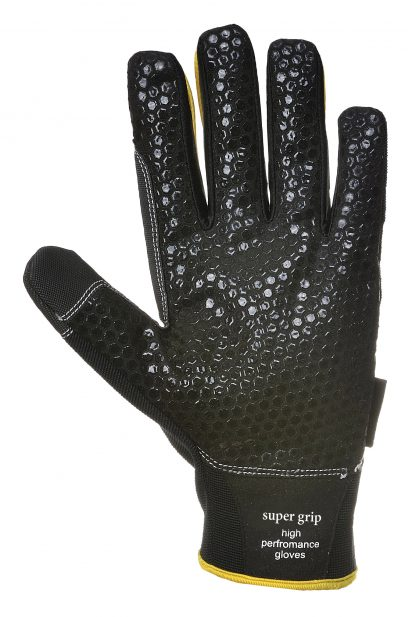 Portwest A730 Supergrip Mechanic Glove, Black, Plated Palm