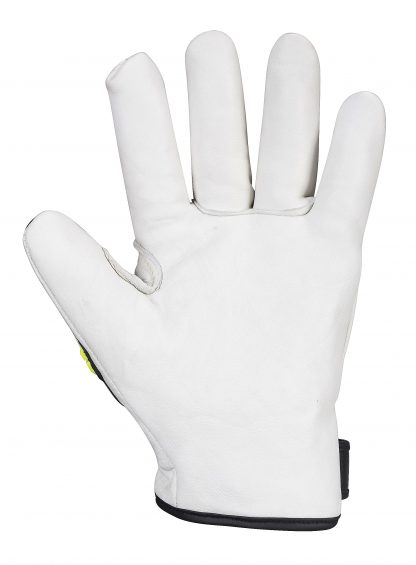 Portwest A745 Big Bear Leather Impact Glove, TPR Knuckles 2