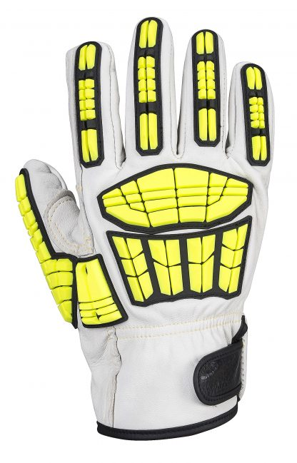 Portwest A745 Big Bear Leather Impact Glove, TPR Knuckles