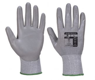 Cut Proof Grip Gloves - Portwest AP31, Cut Level 3, front and back