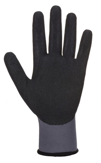 Portwest AP62 Dermiflex Waterproof Grip Glove, Black, palm