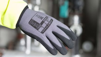 Portwest AP62 Dermiflex Waterproof Grip Glove, Black on body
