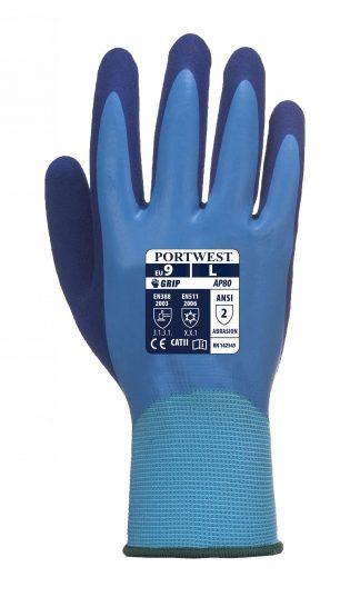 Waterproof Glove - Portwest AP80 Liquid Pro, ANSI Abrasion A2, 13-gauge polyester liner