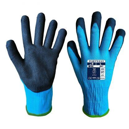 Portwest A667 Claymore Cut Resistant Grip Glove, Blue, Main