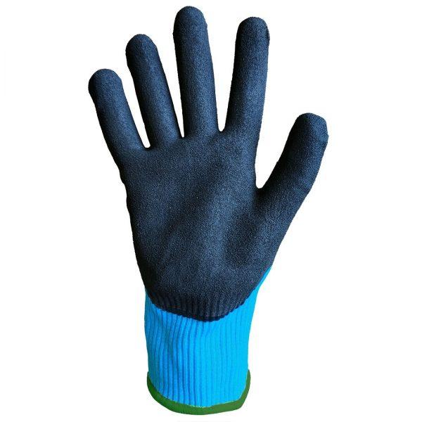 Portwest A667 Claymore Cut Resistant Grip Glove, Blue sandy nitrile palm