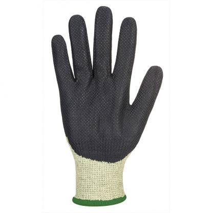 Portwest A780 Arc Flash Gloves, Green/Black, plated palm