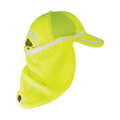 High Visibility Baseball Cap Sun Shield - ML Kishigo 2811/2812, Yellow