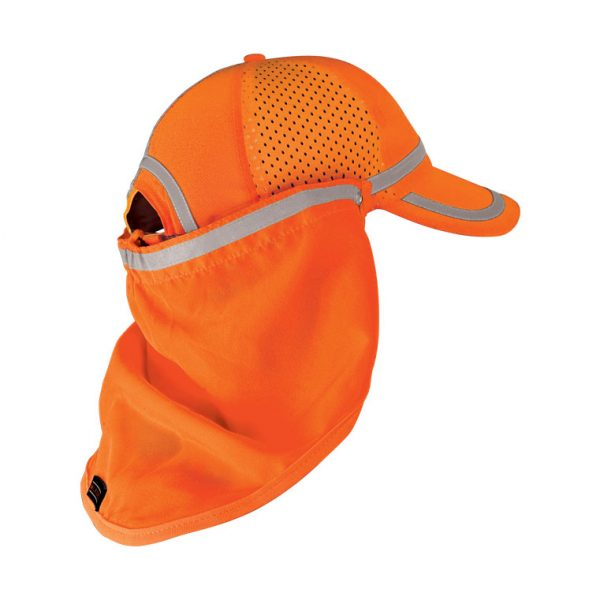High Visibility Baseball Cap Sun Shield - ML Kishigo 2811/2812, Orange
