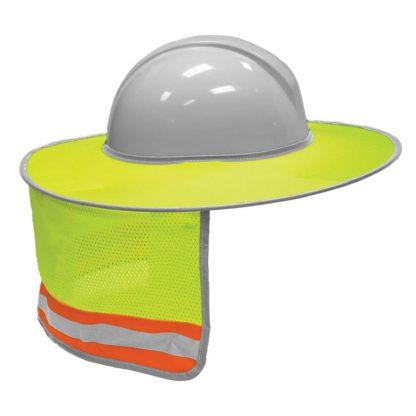 High Visibility Full Brim Sun Shield, Yellow