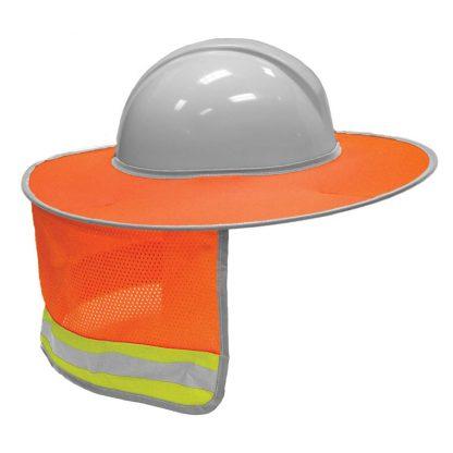 High Visibility Full Brim Sun Shield, Orange