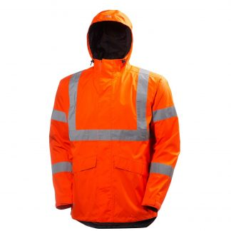 High Visibility Alta Shelter Jacket - Helly Hansen 71070, Orange Front
