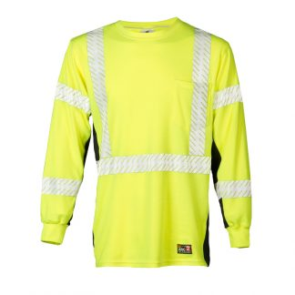High Visibility Fire Resistant Long Sleeve - ML Kishigo F406/T, Front