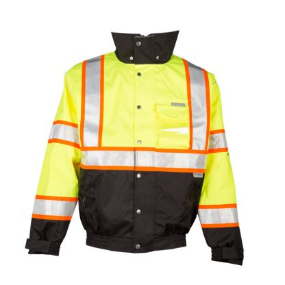 High Visibility 2-in-1 Bomber Jacket - ML Kishigo JS119/120, Yellow Front