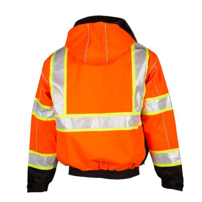 High Visibility 2-in-1 Bomber Jacket - ML Kishigo JS119/120, Orange Back