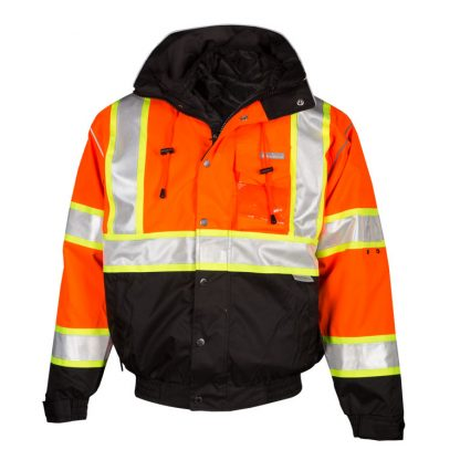 High Visibility 2-in-1 Bomber Jacket - ML Kishigo JS119/120, Orange Front